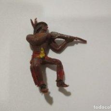 Figuras de Goma y PVC: FIGURA JINETE INDIO COMANSI 60MM. Lote 143518766