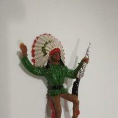 Figuras de Goma y PVC: FIGURA JINETE INDIO COMANSI. Lote 143520198