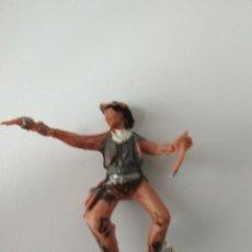 Figuras de Goma y PVC: FIGURA VAQUERO AÑOS 60. Lote 143572898