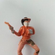 Figuras de Goma y PVC: FIGURA VAQUERO AÑOS 60. Lote 143572954