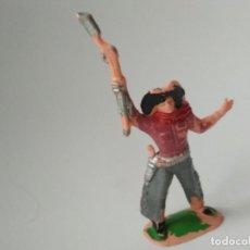 Figuras de Goma y PVC: FIGURA VAQUERO AÑOS 60. Lote 143573370