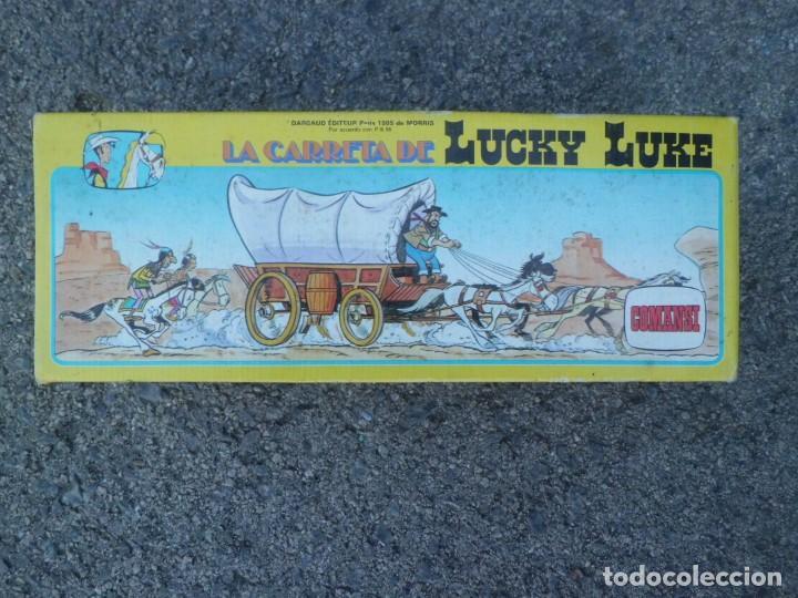LA CARRETA DE LUCKY LUKE, NUEVA , AÑOS 70 (Juguetes - Figuras de Goma y Pvc - Comansi y Novolinea)
