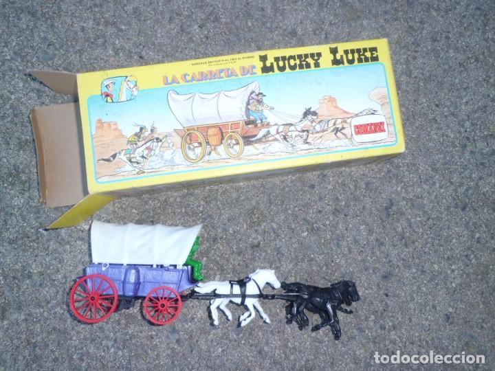 Figuras de Goma y PVC: LA CARRETA DE LUCKY LUKE, NUEVA , AÑOS 70 - Foto 3 - 143741578