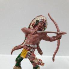 Figuras de Goma y PVC: GUERRERO INDIO . REALIZADO POR LAFREDO . SERIE GRANDE . AÑOS 60. Lote 143864534