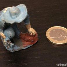 Figuras de Goma y PVC: FIGURA SOLDADO PVC PLASTICO OESTE BAQUERO INDIO CABALLO - NO PECH LAFREDO JECSAN REAMSA COMANSI . Lote 143935498