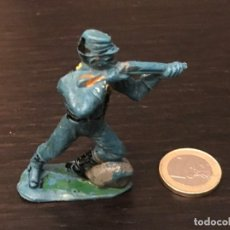 Figuras de Goma y PVC: FIGURA SOLDADO PVC PLASTICO OESTE BAQUERO INDIO CABALLO - NO PECH LAFREDO JECSAN REAMSA COMANSI . Lote 143936050