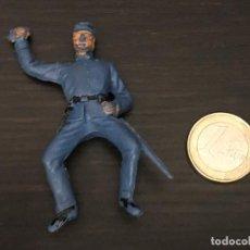 Figuras de Goma y PVC: FIGURA SOLDADO PVC PLASTICO OESTE BAQUERO INDIO CABALLO - NO PECH LAFREDO JECSAN REAMSA COMANSI . Lote 143937018