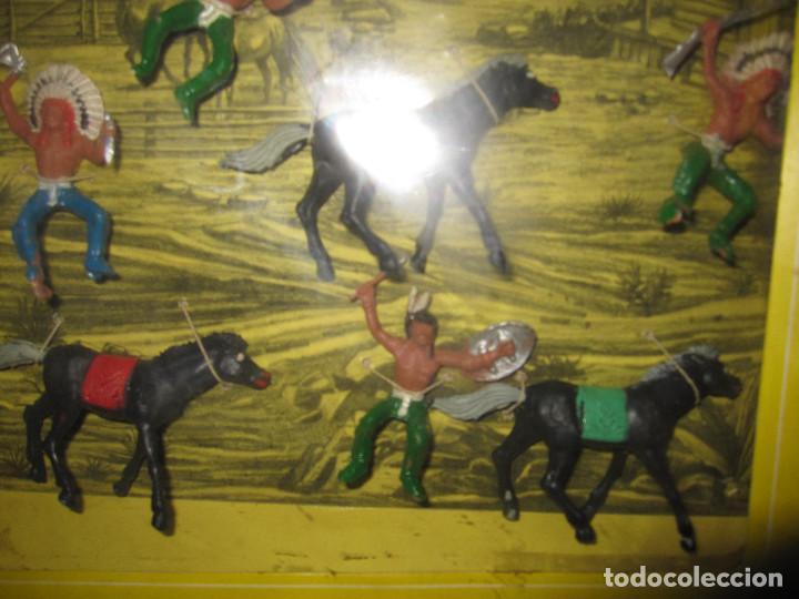 Figuras de Goma y PVC: CAJA DE INDIOS DE OLIVER/ PECH DESCATALOGADA - Foto 3 - 144104170