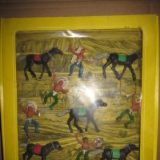 Figuras de Goma y PVC: CAJA DE INDIOS DE OLIVER/ PECH DESCATALOGADA. Lote 144104170
