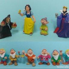 Figuras de Goma y PVC: FIGURAS PVC - BLANCANIEVES Y LOS SIETE ENANITOS - DISNEY - BULLY 1982 - LOTE 11 FIGURAS. Lote 144269158
