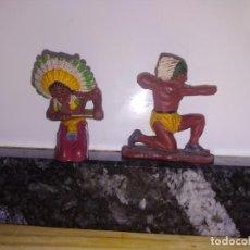 Figuras de Goma y PVC: FIGURA OESTE INDIOS LAFREDO GOMA. Lote 144323378