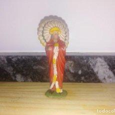 Figuras de Goma y PVC: FIGURA PVC OESTE INDIOS Y VAQUEROS REAMSA JEFE INDIO . Lote 144325266