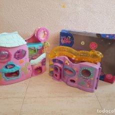 Figuras de Goma y PVC: LOTE LITTLE PET SHOP PETSHOP CASITA CASA DE JUEGOS + FITNESS CLUB MASCOTAS PET SHOP HASBRO 2011. Lote 144338558
