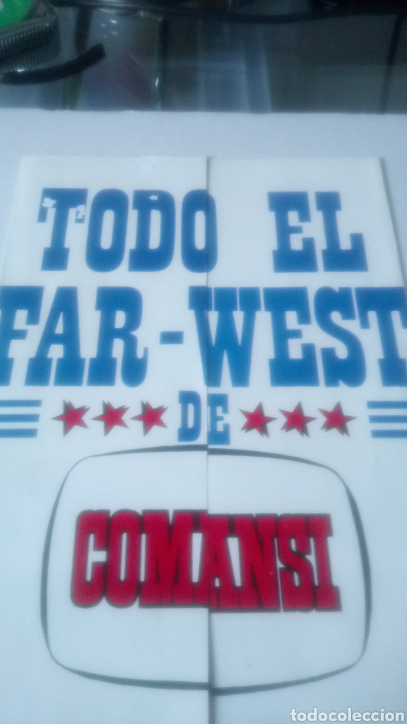 TRIPTICO TODO EL FAR WEST DE COMANSI. (Juguetes - Figuras de Goma y Pvc - Comansi y Novolinea)