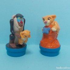 Figuras de Goma y PVC: FIGURAS PVC - EL REY LEON - DISNEY - LOTE 9 - SMARTIES. Lote 144377366
