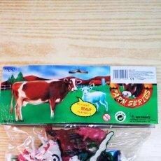 Figuras de Goma y PVC: FARM SERIES FIGURAS DE ANIMALES CON MAPA. Lote 144542388