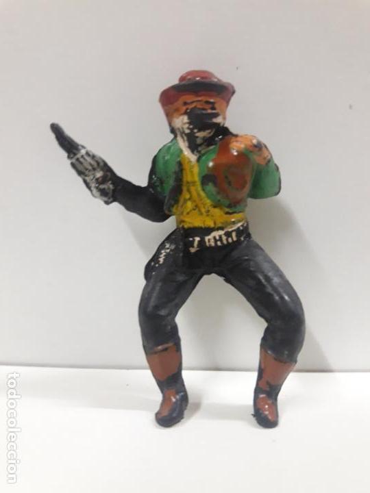 VAQUERO - ATRACADOR PARA CABALLO . REALIZADO POR PECH . AÑOS 50 EN GOMA (Juguetes - Figuras de Goma y Pvc - Pech)