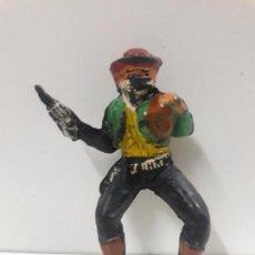 Figuras de Goma y PVC: VAQUERO - ATRACADOR PARA CABALLO . REALIZADO POR PECH . AÑOS 50 EN GOMA. Lote 144556326