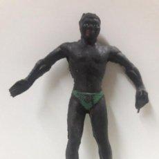 Figuras de Goma y PVC: GUERRERO NEGRO . REALIZADO POR ARCLA . AÑOS 50 EN GOMA - INTERIOR EN ALAMBRE. Lote 144561202