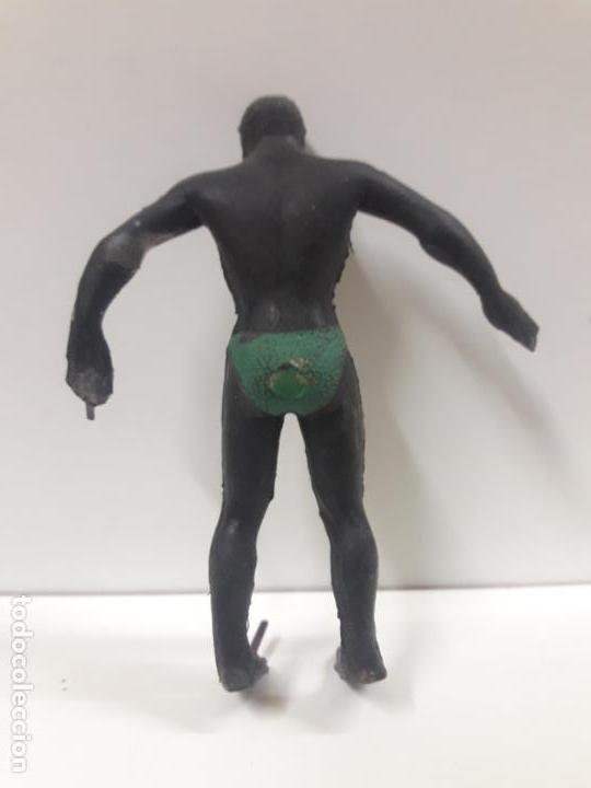 Figuras de Goma y PVC: GUERRERO NEGRO . REALIZADO POR ARCLA . AÑOS 50 EN GOMA - INTERIOR EN ALAMBRE - Foto 2 - 144561202