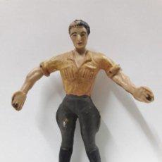 Figuras de Goma y PVC: CAZADOR - EXPLORADOR . REALIZADO POR ARCLA . AÑOS 50 . EN GOMA - INTERIOR EN ALAMBRE. Lote 144561326