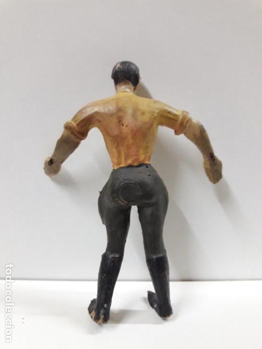 Figuras de Goma y PVC: CAZADOR - EXPLORADOR . REALIZADO POR ARCLA . AÑOS 50 . EN GOMA - INTERIOR EN ALAMBRE - Foto 2 - 144561326