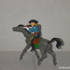 Figuras de Goma y PVC: SOLDADO YANKI Y CABALLO DE PECH, PVC, AÑOS 70. Lote 144572318