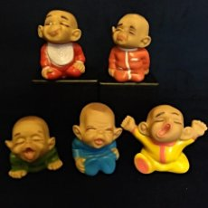 Figuras de Goma y PVC: 5 MUÑECOS DE GOMA PERE MADE IN SPAIN DE LOS 70,MIDEN 11 CM. Lote 144577570