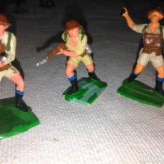 Figuras de Goma y PVC: LOTE 3 SOLDADOS INGLESES DE OLIVER PECH, PVC. Lote 144650854