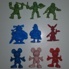 Figuras de Goma y PVC: DUNKIN - LOTE DE MINI FIGURAS TIPO DUNKIN AÑOS 80 ASTERIX TORTUGAS NINJA DISNEY. Lote 144652422
