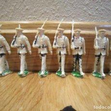 Figuras de Goma y PVC: LOTE DE 7 SOLDADOS DESFILE MARINA AÑOS 50. MARCA ASTER . Lote 144652494