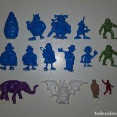 Figuras de Goma y PVC: DUNKIN - LOTE DE MINI FIGURAS TIPO DUNKIN AÑOS 80 ASTERIX TORTUGAS NINJA MATUTANO. Lote 144652510