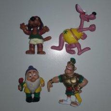 Figuras de Goma y PVC: LOTE COMICS SPAIN PVC - DELFI ASTERIX BLANCANIEVES ENANITOS DISNEY. Lote 144653070
