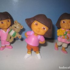 Figuras de Goma y PVC: DORA EXPLORADORA 3 FIGURAS DIFERENTES NUEVAS DE PVC. Lote 144655938