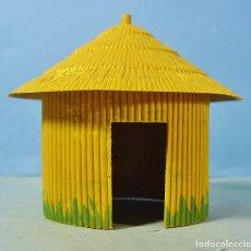 Figuras de Goma y PVC: CABAÑA O CHOZA EN PLÁSTICO DE LA COLECCIÓN SAFARI. PECH. . Lote 144354650