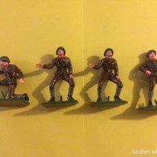 Figuras de Goma y PVC: LOTE DE 4 ARTILLEROS RUSOS DE PECH/OLIVER (2 IGUALES). Lote 146039828