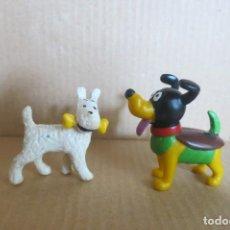 Figuras de Goma y PVC: 2 PERRITOS. Lote 144822258