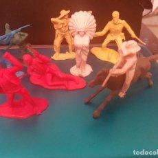 Figuras de Goma y PVC: LOTE FIGURAS COMANSI - INDIOS Y VAQUEROS. Lote 144949778