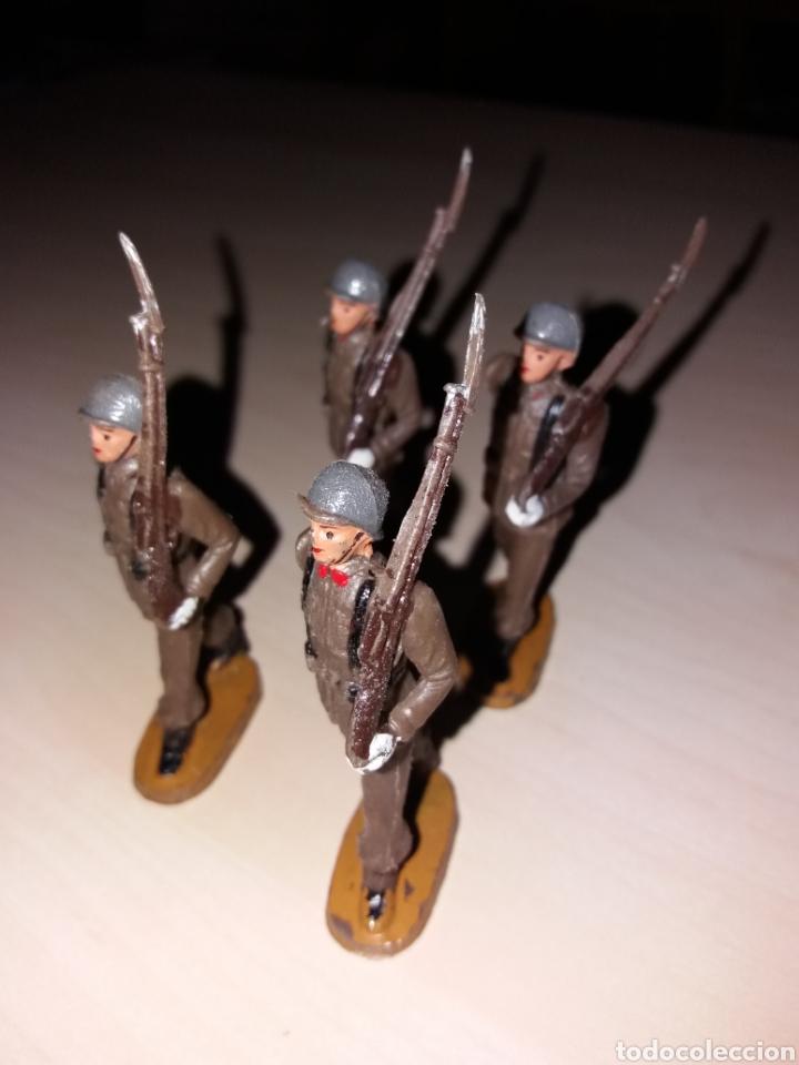 Figuras de Goma y PVC: Lote de antiguos soldados TEIXIDÓ - Foto 2 - 144966701