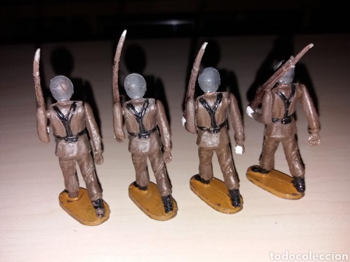Figuras de Goma y PVC: Lote de antiguos soldados TEIXIDÓ - Foto 4 - 144966701