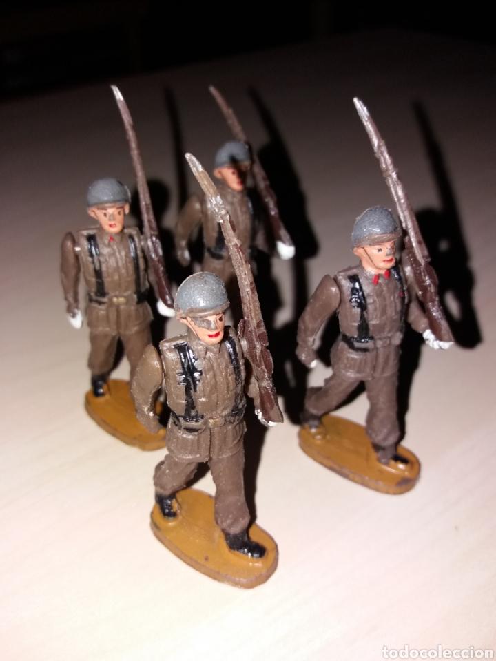 Figuras de Goma y PVC: Lote de antiguos soldados TEIXIDÓ - Foto 3 - 144966701