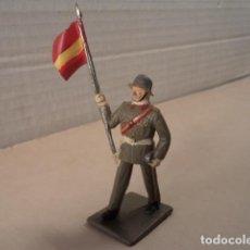 Figurines en Caoutchouc et PVC: FIGURA DE PLÁSTICO ABANDERADO INFANTERÍA ESPAÑOLA DESFILANDO REAMSA. Lote 145086986