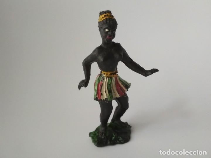 RARA FIGURA BAILARINA LAFREDO ÁFRICA SALVAJE (Juguetes - Figuras de Goma y Pvc - Lafredo)