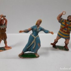 Figuras de Goma y PVC: SIGRID - CRISPIN CON GARROTE Y GOLIATH . TRES FIGURAS REALIZADAS POR ESTEREOPLAST . AÑOS 60. Lote 145165434