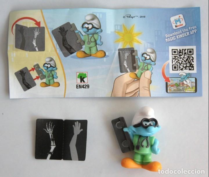 Figuras Kinder: Kinder Sorpresa Smurfs in the City EN429 Pitufo Filósofo con radiografía con instrucciones. - Foto 3 - 151135268