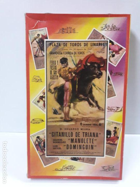 CAJA DE LA CORRIDA DE TOROS - SIN CONTENIDO . REALIZADA POR PECH . AÑOS 60 (Juguetes - Figuras de Goma y Pvc - Pech)