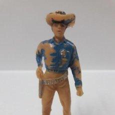 Figuras de Goma y PVC: FIGURA DEL LEGENDARIO SHERIFF DE GUMSMOKE . SERIE BONANZA . REALIZADA POR JECSAN . AÑOS 60. Lote 145258382