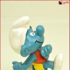 Figuras de Goma y PVC: PIT 16 - PITUFOS SMURFS PEYO - WEST GERMANY 1979 - PITUFO SALTO PERTIGA. Lote 145265582