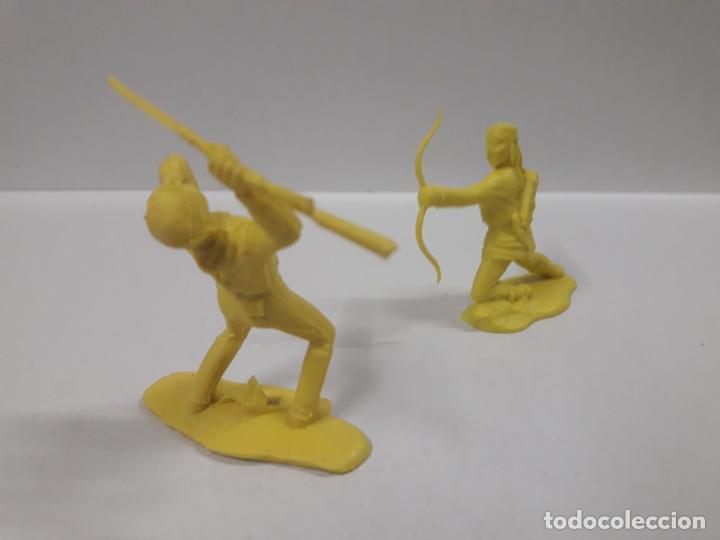 Figuras de Goma y PVC: GUERRERO INDIO CONTRA SOLDADO FEDERAL . MOLDE REAMSA - GOMARSA . EN PLASTICO MONOCOLOR - Foto 2 - 145266774