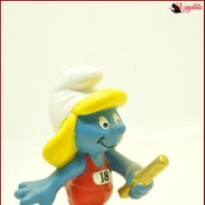 Figuras de Goma y PVC: PIT 54 - PITUFOS SMURFS PEYO - SCHLEICH AM LIMES 69 2011 - PITUFINA RELEVOS. Lote 145280462